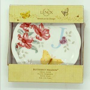 Lenox Initial J Trinket Soap Ring Dish